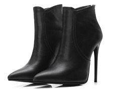 Womens Ladies Pointy Toe Sz35-48 Sexy Stilettos Mid Calf Boots High Heel Shoes