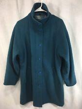 Blue Wool Jacket Woolrich Vintage Women Medium Plaid Blanket Wool Lined Coat USA