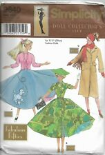 Simplicity Doll Collector's Club Pattern 9840 Fabulous Fifties