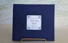 Custom Funeral Guest Book -Choice of Color- Memorial Service Wake Guestbook Sign