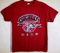 VTG  1988 Size XL Cincinnati Reds T-Shirt Champion Distressed Red