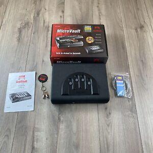 GunVault MVB500 MicroVault Biometric Gun Safe Pistol Key / Keypad Entry Lockbox