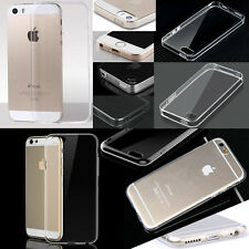 For iPhone5 5S Case Cover 0.3mm Crystal Clear Transparent Soft Silicone TPU