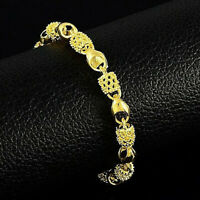 Hollow Bead Bracelet 24k Gold NEW