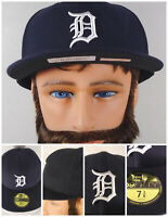 Detroit Tigers MLB Flat Brim Style Hat Cap Black 7-3/8 NWT NEW Era