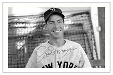 JOE DIMAGGIO NEW YORK YANKEES AUTOGRAPH SIGNED PHOTO PRINT BASEBALL