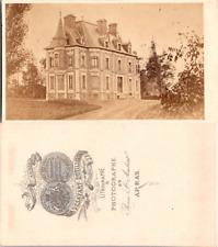 France, Château, grande demeure à identifier près d'Arras Vintage CDV album