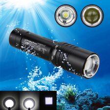 Unterwasser 100m Zoom 5000LM T6 LED Tauchlampe Scuba Torch Wasserdicht Licht