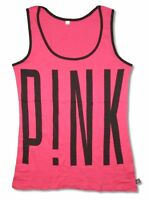 P!NK Big Name Logo Hot Pink Tank Top Shirt New Official Soft Unisex Fit