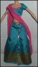 OUTFIT BARBIE DOLL MATTEL DOTW DIWALI BLUE & PINK SKIRT TOP  ACCESSORY CLOTHING