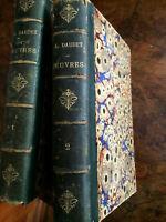 """Daudet A. """"Oeuvres complètes"""" deux premiers tomes seulement, édition vers 1900."""