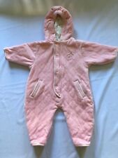 Girls Lullaby Club Playwear Fleece Snowsuit Size 3/6 months
