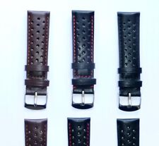 20mm Sports Genuine Leather Watch Band Strap fits TAG Heuer Carrera