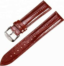 GENUINE LEATHER GLOSSY BROWN WATCH STRAP SIZE 18-16-20-22MM Oris Roamer Omega