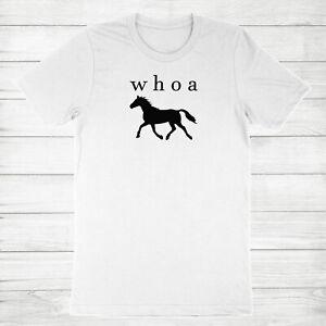 Cute Horse Shirt Funny Horse sayings T-Shirt Whoa Horse Tee Horse Lover Gifts