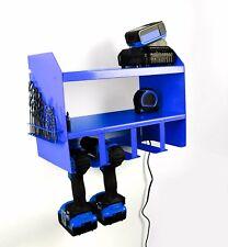 Bleu Perceuse Batterie outil Rack pour rangement atelier Organisateur étui Sac