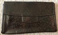 Tolle zeitlose Damen Handtasche Clutch braun ca 28x17x8cm SCHLANGENLEDER-Optik