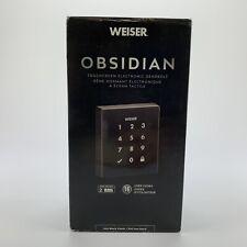 Weiser Obsidian Keyless Touchscreen Door Lock Electronic Deadbolt in Iron Black