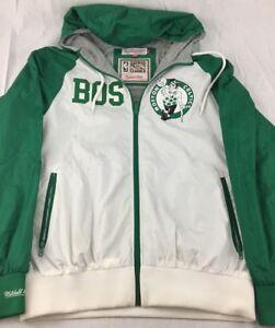 Mitchell & Ness BOSTON CELTICS NBA Hardwood Classics Jacket Hooded Mens S Small