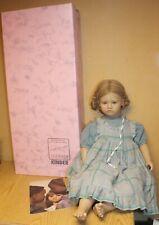 """Annette Himstedt Kathe Barefoot Children Puppen Kinder Nib 26"""" Doll Coa"""