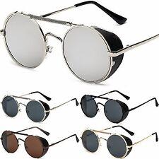 NUOVO UNISEX ROTONDO occhiali Steampunk PARAOCCHI Occhiali da sole vintage