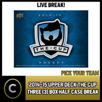 2014-15 UPPER DECK THE CUP HOCKEY 3 BOX (HALF CASE) BREAK #H514 - PICK YOUR TEAM