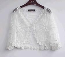 Sheer BOLERO SHRUG Handcraft cape Top amice cloke Size 8-20 Jacket Coat Wedding