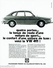 PUBLICITE ADVERTISING 026  1968   Volkswagen la VW 411 de luxe