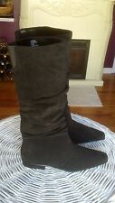 White Mountain  Black Suede  Knee High boots Size 7.5 M  NEW