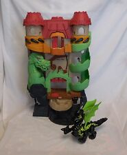 Fisher Price Imaginext dragon world castle fortress + Ninja Dragon Black Green