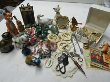 C//LOT BROCANTE COLLECTION BIJOUX DIVERS