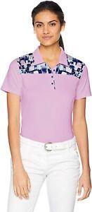 Adidas Golf Women's Ultimate 365 Lilac Polo Shirt Purple Top Sz M CY8331 $65 NEW