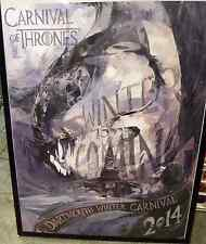 2014 DARTMOUTH WINTER CARNIVAL POSTER, ORIGINAL, BOUGHT DIRECTLY FROM COLLEGE