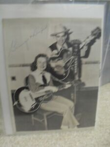 Vintage 1940s George & Dixie Early Country Signed Autographed Photograph 8x10