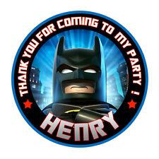 Personalizzato Lego Batman Rotondo 50mm Adesivi Festa Ringraziamenti Sigilli