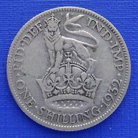Britain One Shilling Coin~1932 George V~KM#833~.500 Silver 5.6g~Fine~#1106