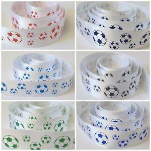 Football themed satin ribbon cake ribbon gift wrap Various Colours 25mm