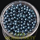 New 300pcs 6mm Round Czech Glass Pearl Loose Spacer Beads Purplish Blue