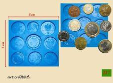 Silikonform (217) Münzen silicone mold cake fondant sugarcraft