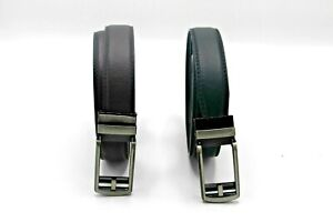 """Mens Leather Belt Adjustable 28""""- 48"""" Perfect Fit Guaranteed-No Holes - Easy Fit"""