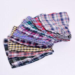 Casual Plaid Print Cintura elástica Hombres Ropa interior Verano Playa Pantalone