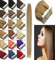 Premium Remy Human Hair Extensions 3M Tape-In Skin Weft Seamless Hair 16-24Inch