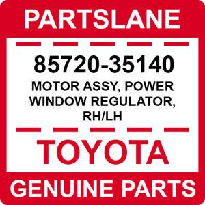 85720-35140 Toyota OEM Genuine MOTOR ASSY, POWER WINDOW REGULATOR, RH/LH