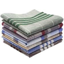 6X Vintage Men's Handkerchiefs Cotton Assorted Pocket Square Handkerchief Set