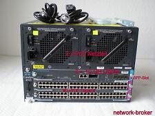 Switch Cisco Bundle ws-c4503 + ws-x4516-10ge 2 x ws-x4548-gb-rj45v 96 xpoe
