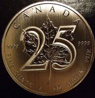 *Canada 1 oz. PURE .999 25th Anniversary Silver Maple Coin 2013 Bullion LIMITED!