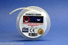 Dental Orthodontic Power Chain Elastic Long WHITE Spool ORTHOM