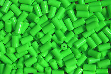 100pc NEON GREEN TUBE BEADS for bird toys crafts rave jewelry