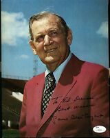 Paul Bear Bryant Signed Jsa Certed 8x10 Photo Authentic Autograph