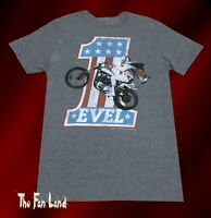 New Evel Knievel Motorcycle 70s Men's Vintage T-Shirt